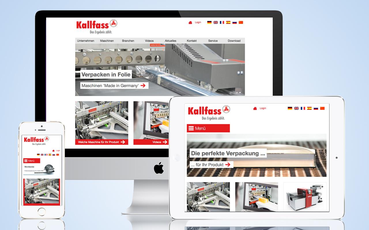 Kallfass Verpackungsmaschinen Internet Relaunch