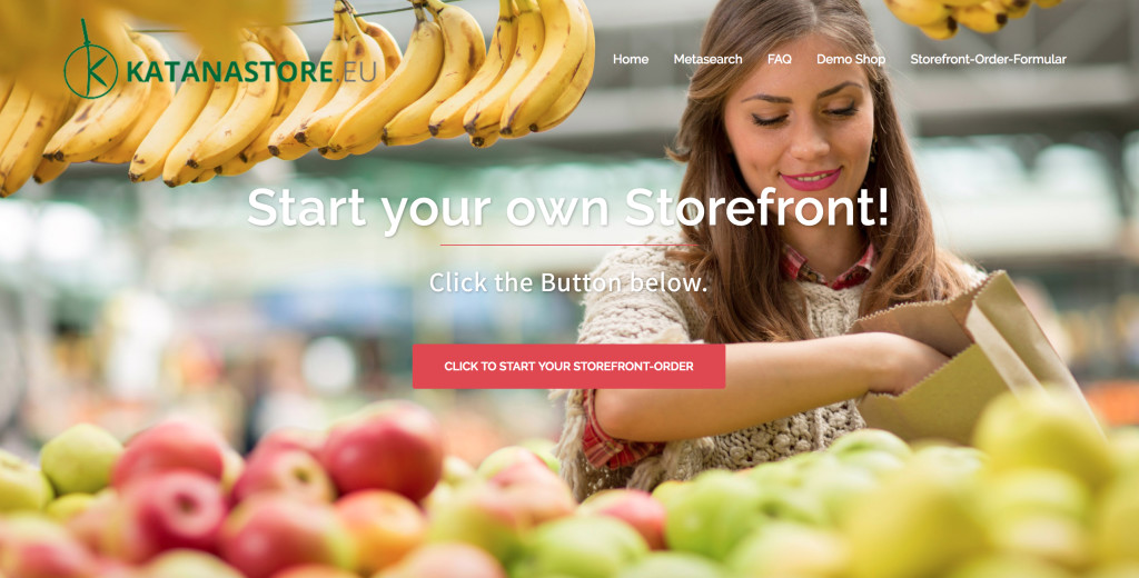 KATANA Storefront of IoT Platform to support selling of agrifood products
